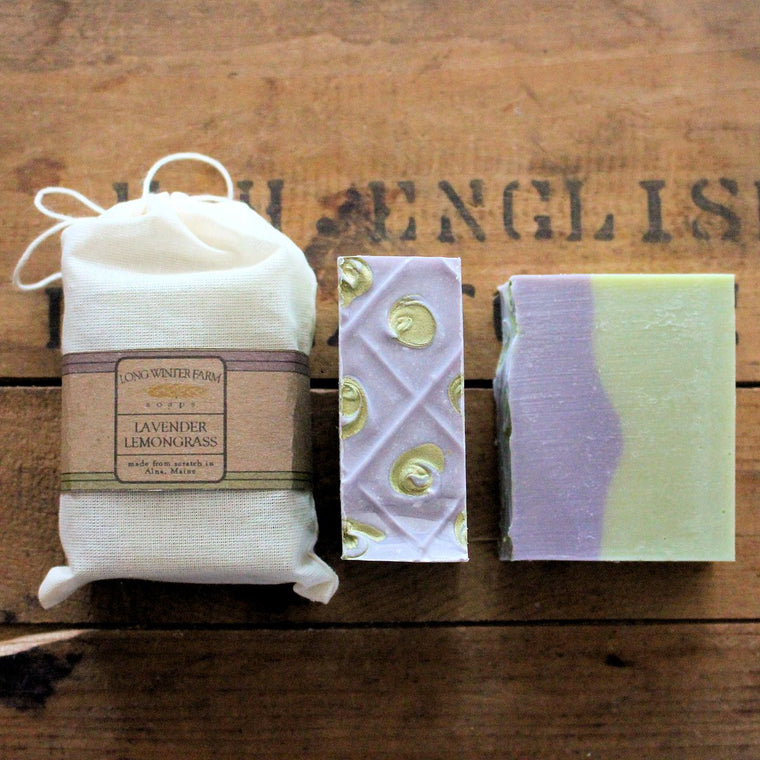Lavender Lemongrass Cold Process Soap