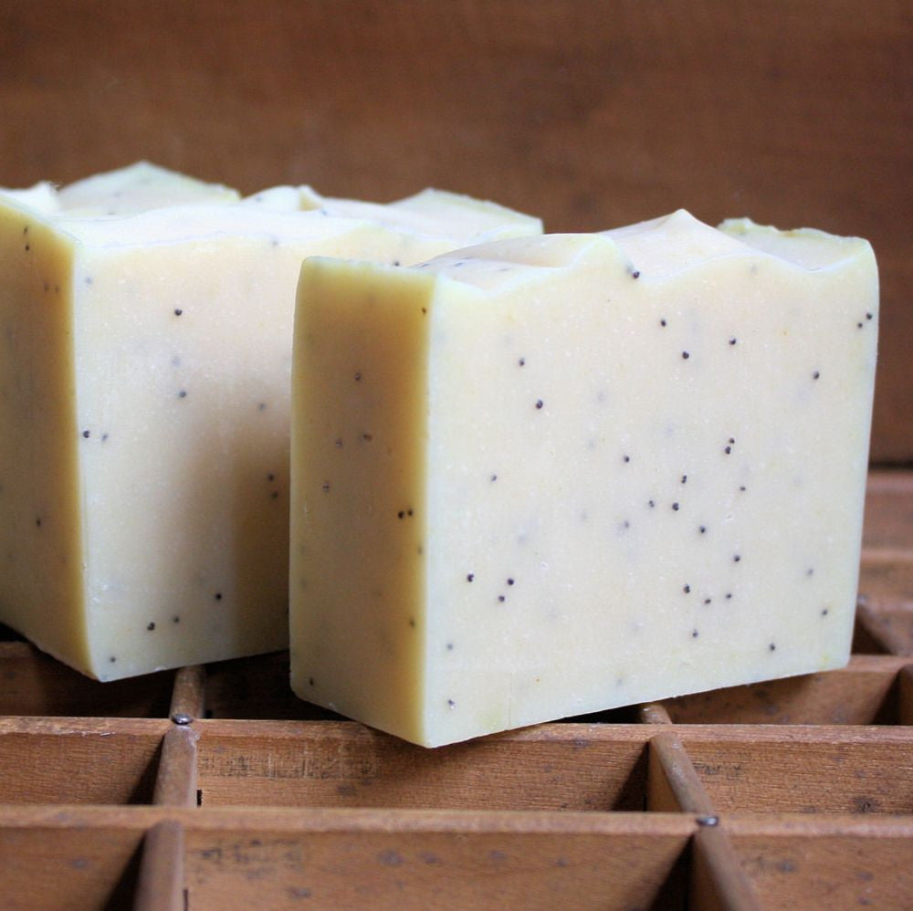 Lemon Poppy Seed Cold Process Soap