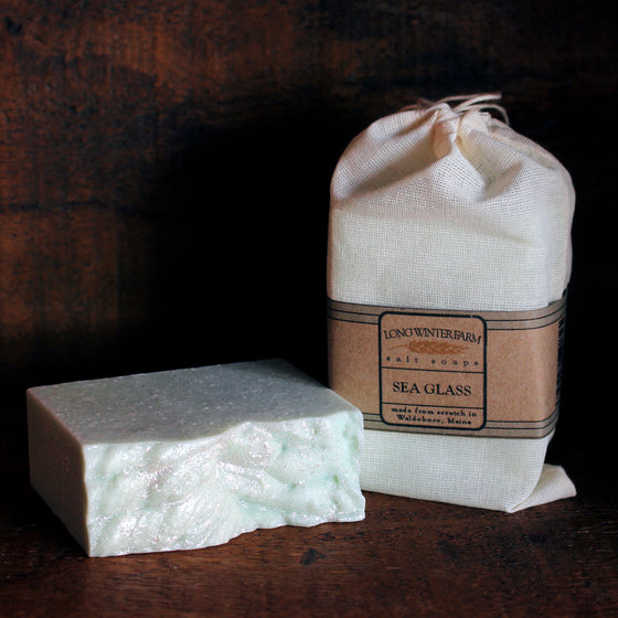 Sea Glass Cold Process Sea Salt Soap