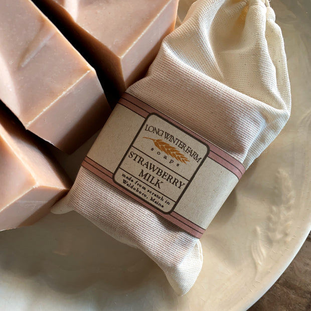 Strawberry Milk Cold Process Goat Milk Soap
