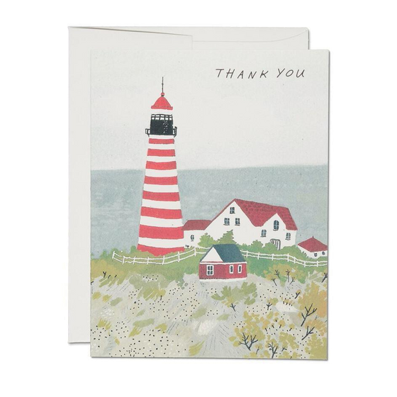 Red Cap Cards - Maine Lighthouse Thank You Card