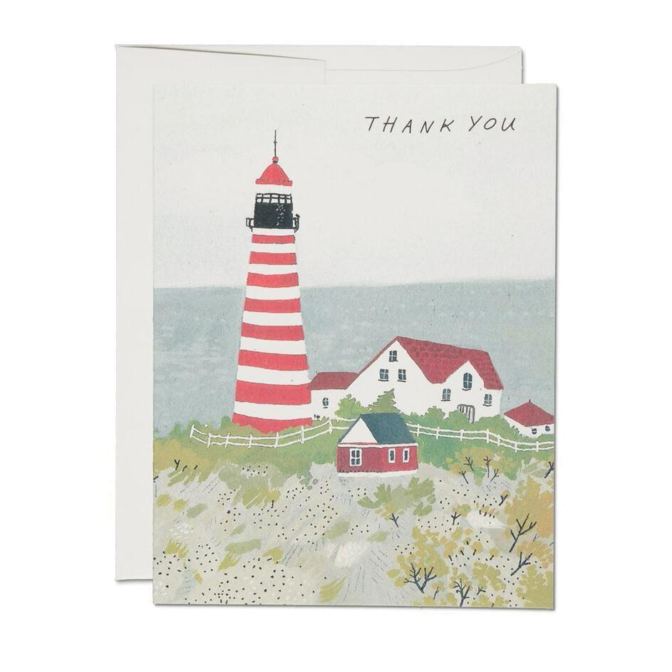 Red cap cards maine lighthouse thank you card long winter soap co red cap cards maine lighthouse thank you card kristyandbryce Choice Image
