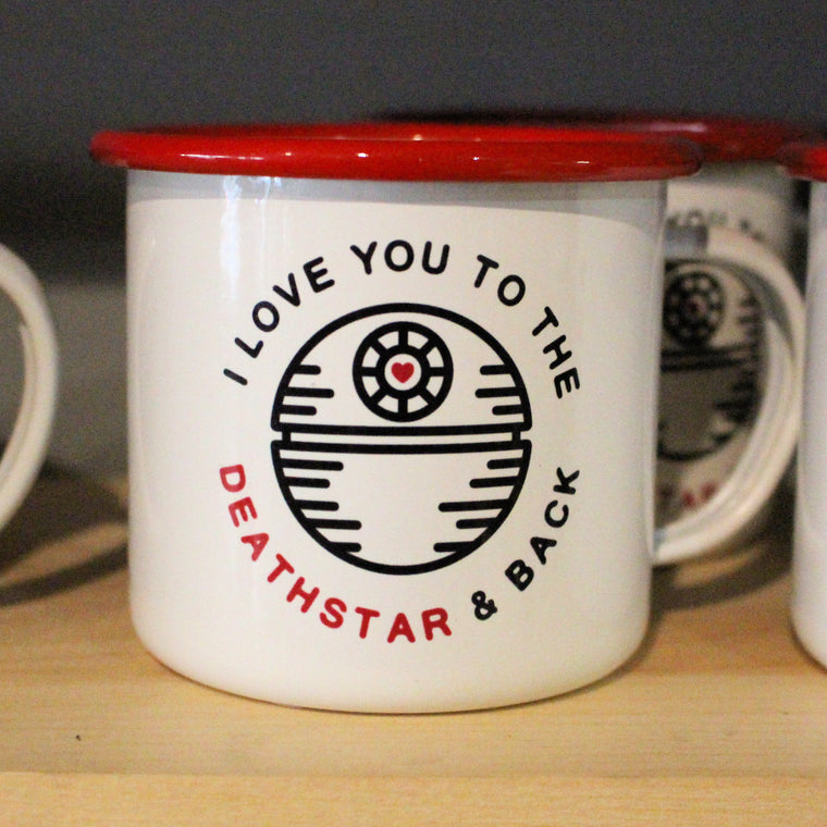 I Love You To The Deathstar Mug