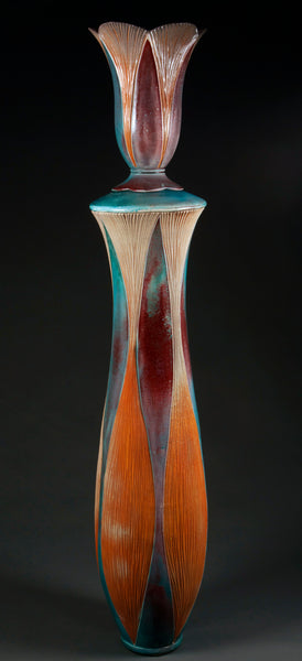 Large Bottle, soda fired