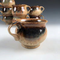 Mug Tan Ash Glaze One Finger