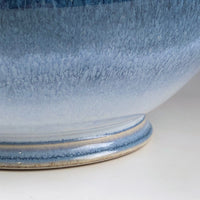 Bowl, centerpiece with Grandma's Blue Glaze