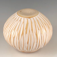 Carved Stoneware Orb