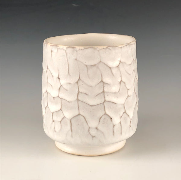 Dendritic Tumbler with White Glaze