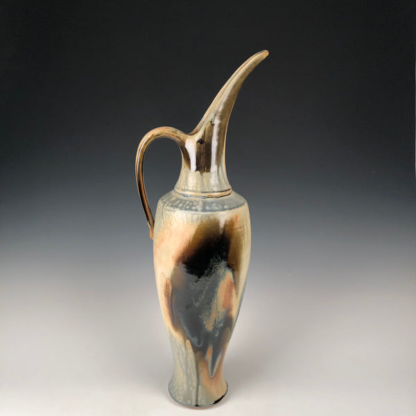 Large Blue Ash Ewer