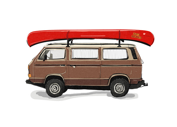 Ginger the Vanagon Print