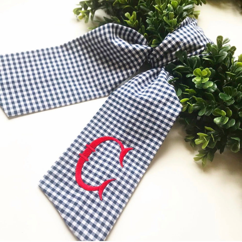 Gingham Wreath Sash