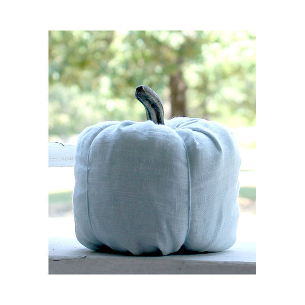 Blue Pumpkin, Farmhouse Fall Decor, Autumn Decor, Fabric Pumpkin, Pumpkin Decor, Fall Decorations, Autumn Decorations, Thanksgiving Decor