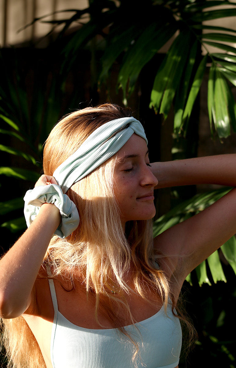 matching tai swim co foam headband