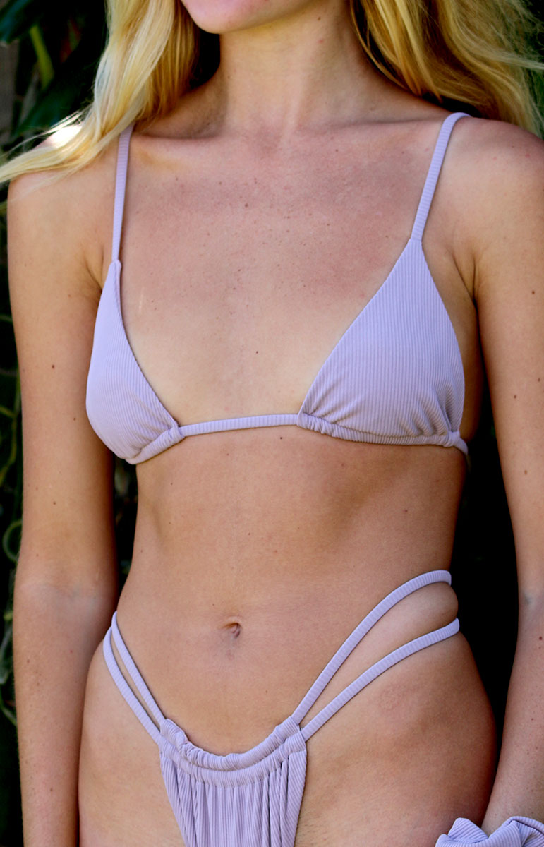 ribbed eco friendly tai swim co joelle top in ube