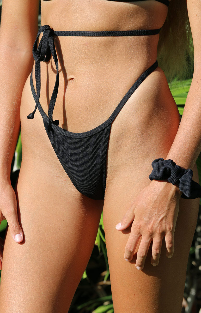 Cheeky ribbed eli bottom in basalt by tai swim co