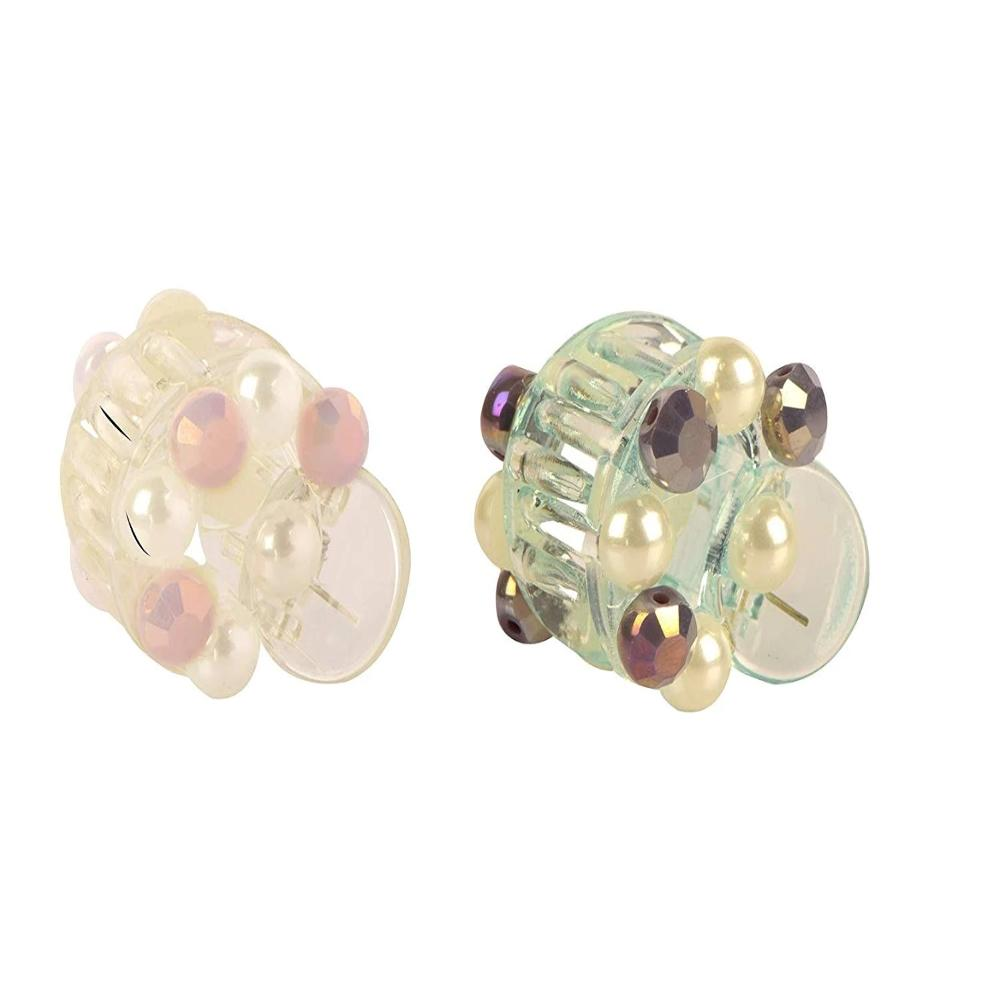 Stylish Flower Pearl Hair Clutcher