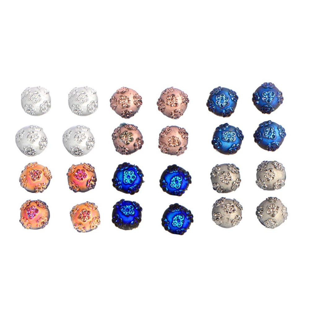 Multi-Color Stud Earrings for Women