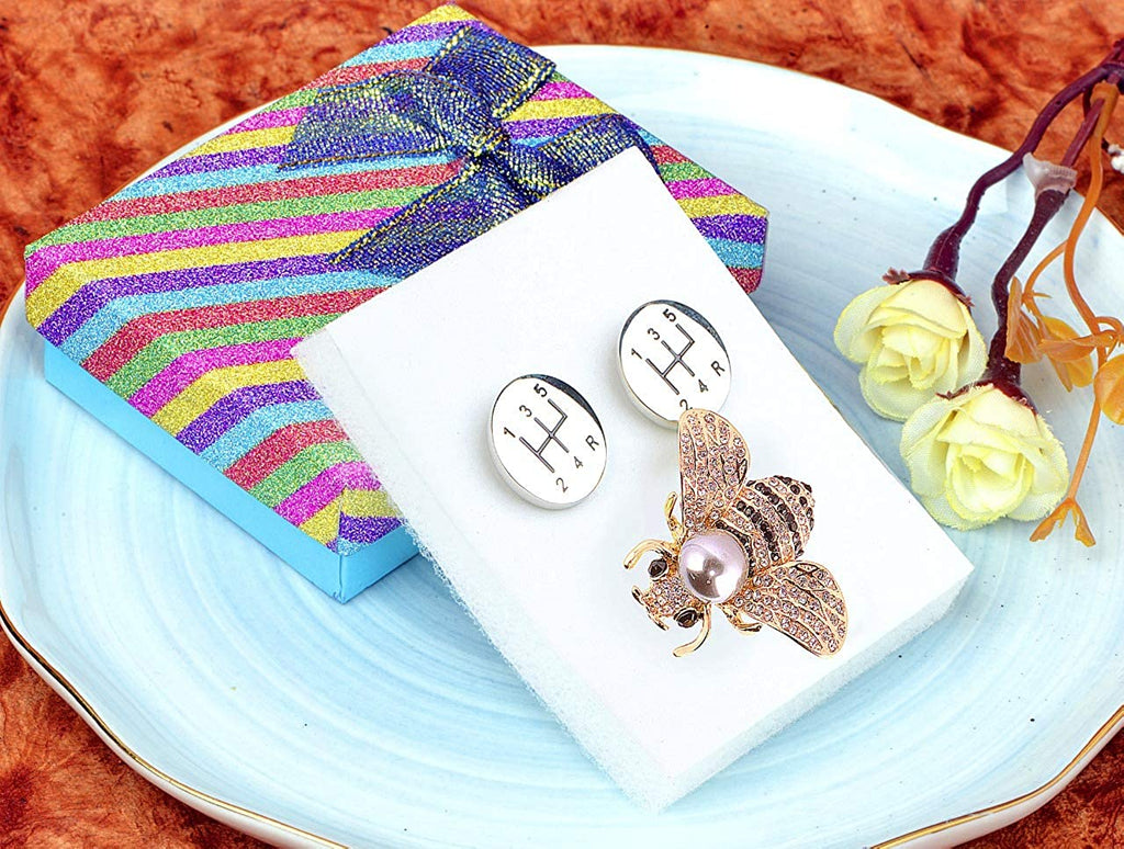 STRIPES Gift Hamper For Men Brooch and Cufflink