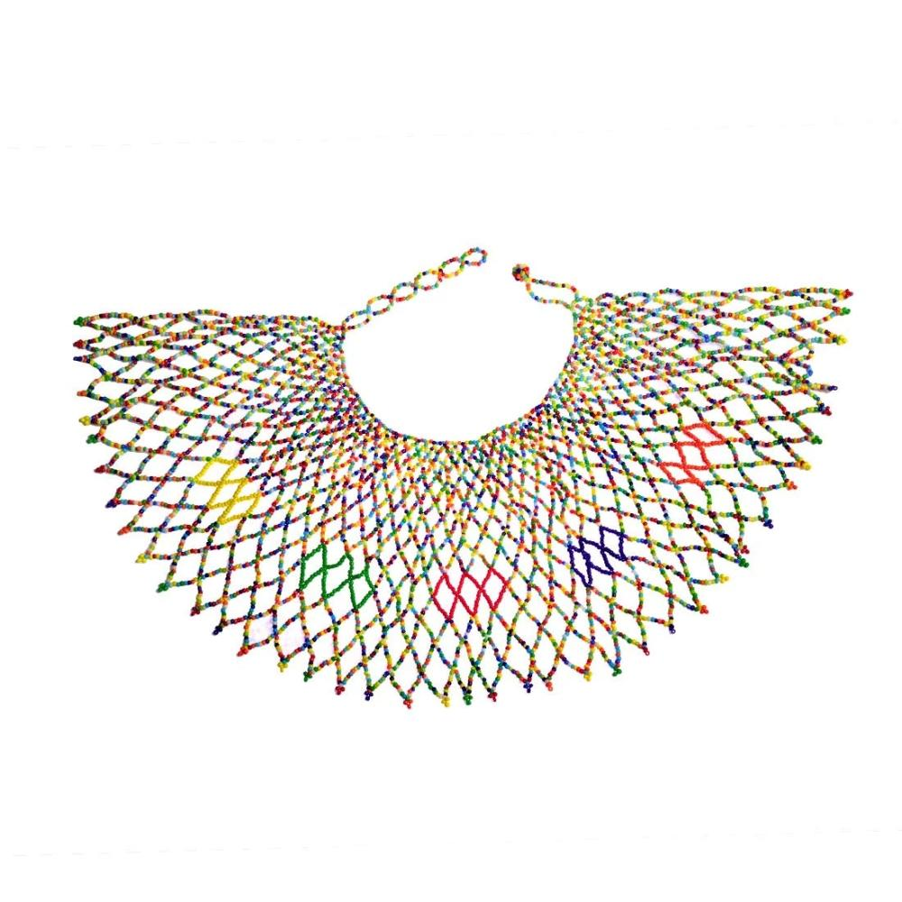 Multi Color Choker Colorful Statement Bib Necklace