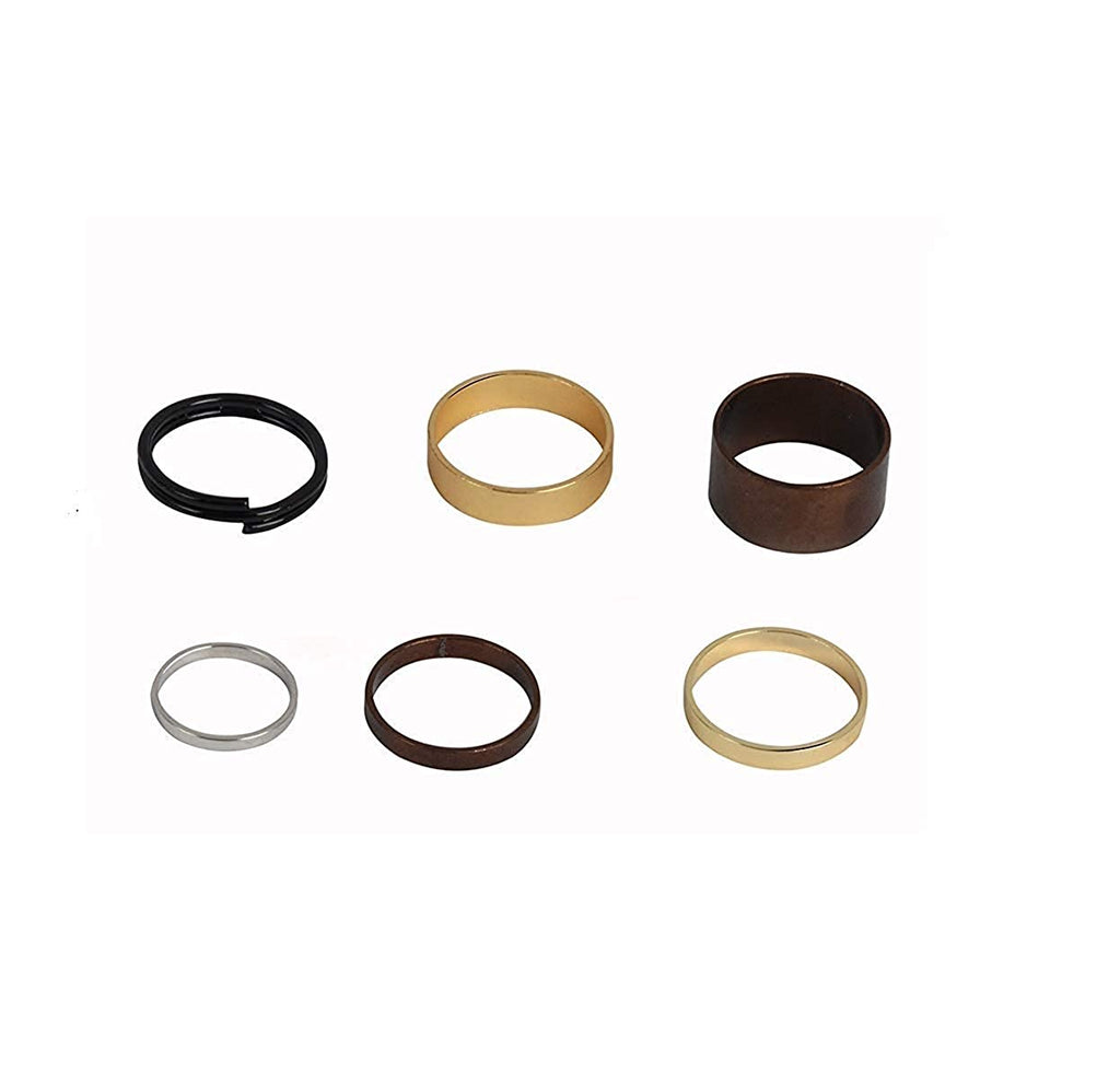 Gold Color 6 Piece Traditional Midi Finger Ring