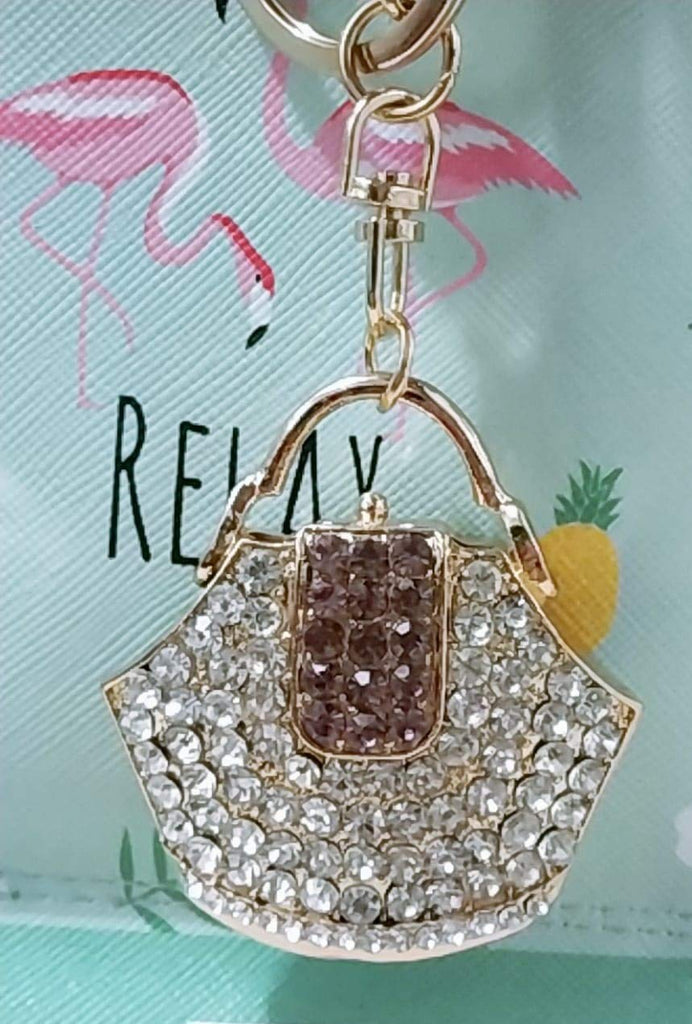 Crystal Purple Key Chain and Bag Accessory
