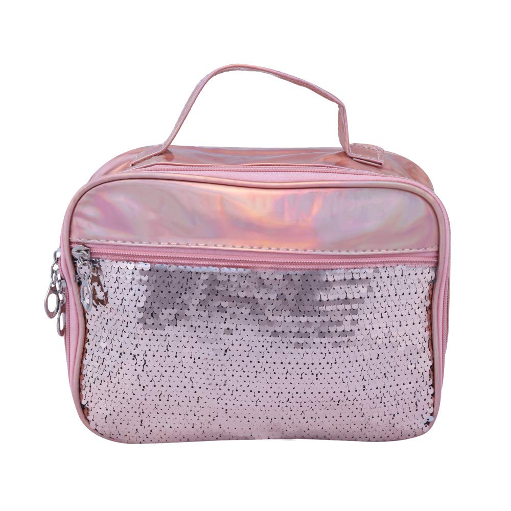 Set of 2 Toiletry Bag Makeup Cosmetic Bag(Rose Gold)