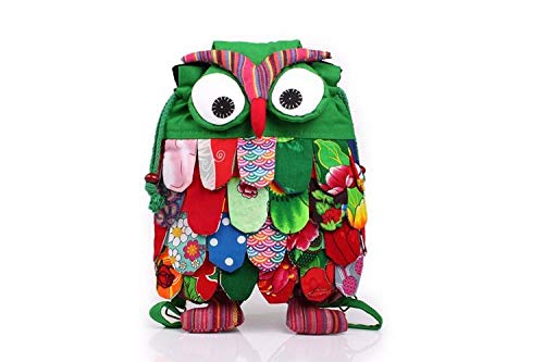 Owl Shape Multi Color Unique Pattern Backpacks
