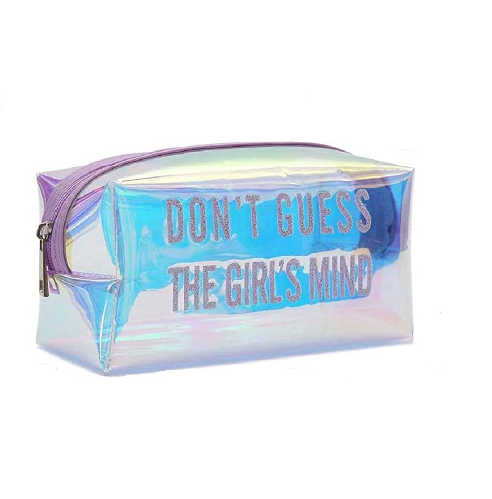 Holographic Transparent  Cosmetic Makeup Bags ( Color May Vary )