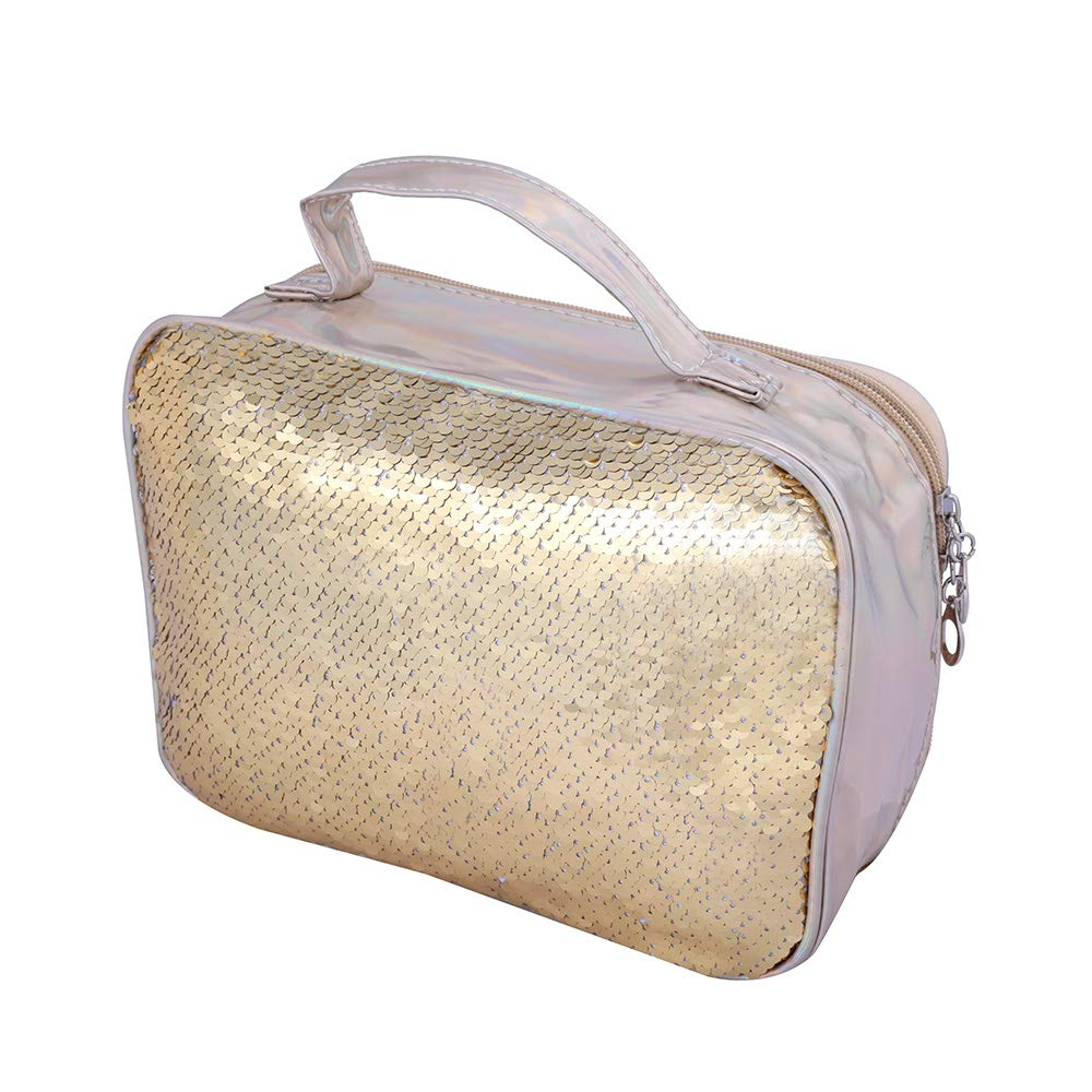 holographic with Sequence Cosmetic Bag(Golden)