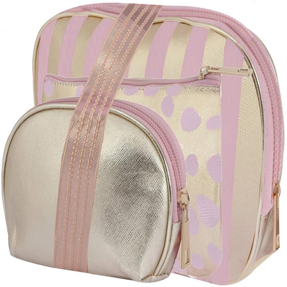 Golden Light Pink Toiletries Make Up Pouch(Set of 3)