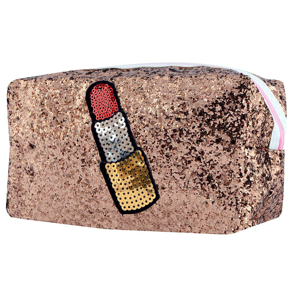 Glitter Sparkling Toiletries Make up Pouch (Brown)