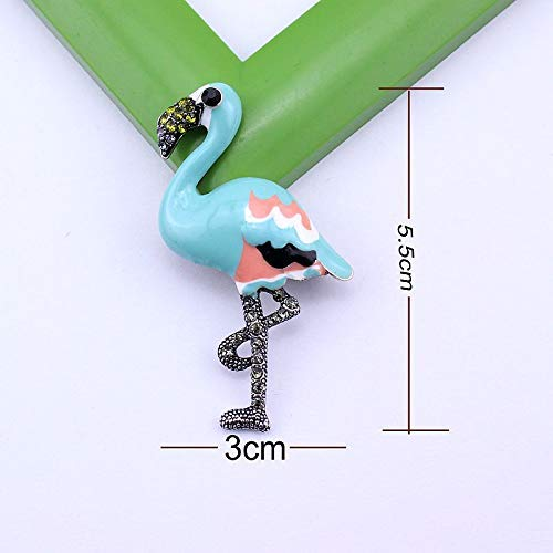 Turquoise Enamel Saree Brooch for Women