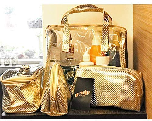 Travel Cosmetic Bag - 4 in 1-Set Makeup and Toiletries Bag
