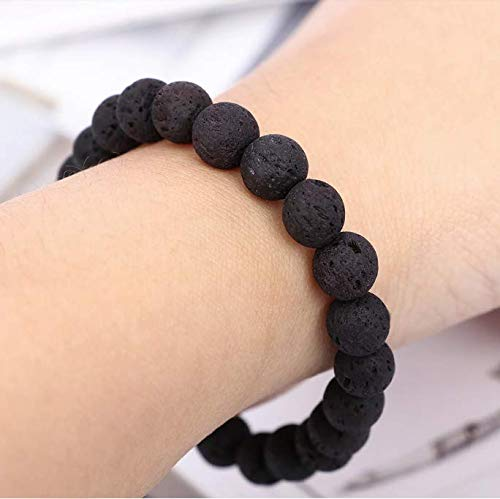 Natural Lava Stones Men Bracelet
