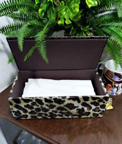 Brown Leopard Skin Tissue Box