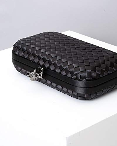 Black Color Woven Style Clutch Purse