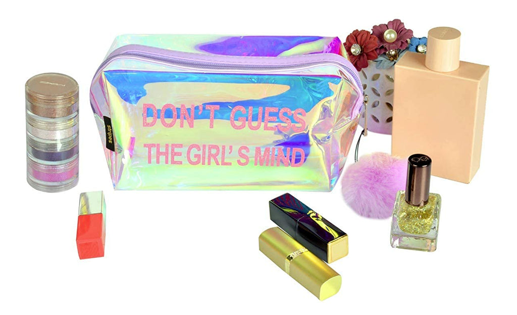 Waterproof PVC Transparent holographic Make up Pouch (Purple)