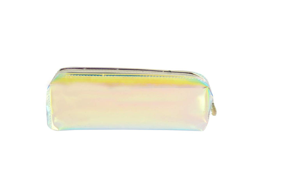 STRIPES Golden Holographic Pencil Case Makeup Pouch