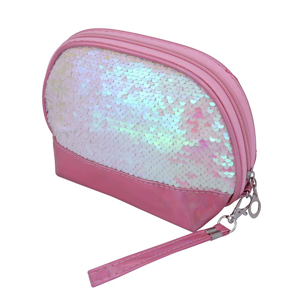 Set of 2 Toiletry Bag Makeup Cosmetic Bag(Pink)