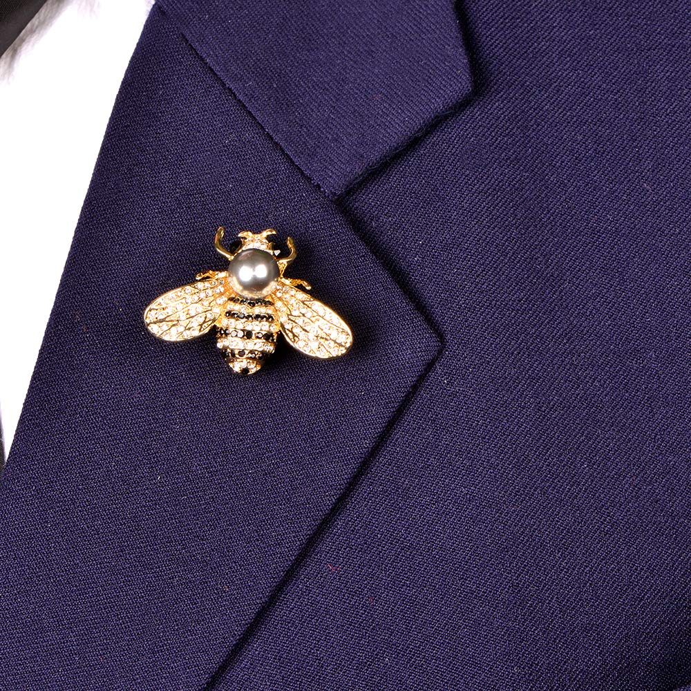 Cute Crystal Honeybee Brooch Pins(Unisex)