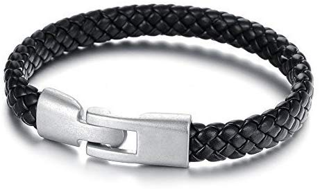 Leather braided stylish bracelet