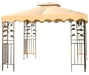 10' x 10' Beige Gazebo Canopy Replacement Top 2-Tiers