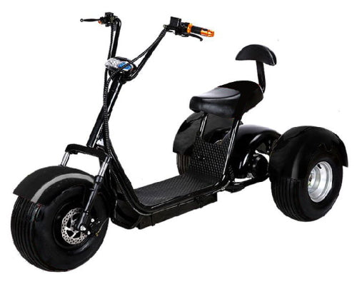 Electric Fat Tire E-Mod 2000W 60V 20AH 3 Wheel Mobility Scooter Trike w/Off Road Tires Like CityCoco Bike