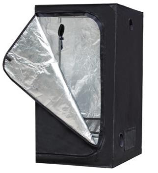 (1)Hydroponic System 2.6x2.6x5.2 ft Reflective Grow Tent