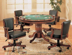 5 Piece, 3 in 1 Poker/Billiard/Dining Table (24 Hour Super Sale) ONLY 1 SET LEFT!