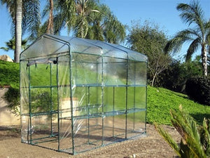 High Quality Portable Green House 6.33' Tall x 4.67' Wide x 7.1' Long w/ 2 shelf