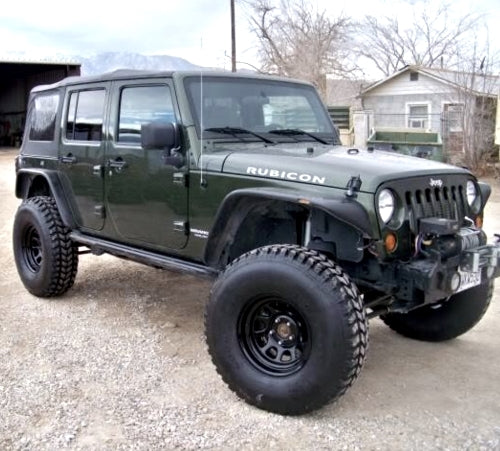 Hummer Military Jeep Wrangler 37x12.50R16.5 Goodyear MT Tires 70% - 90% Tread - Set Of 4