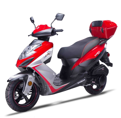 Znen 150cc 4 Stroke Gas Moped Scooter w/USB & Alarm - 7G-150-California-Pickup