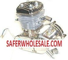 80cc Motorized Gas Bike Engine - Slant Chrome