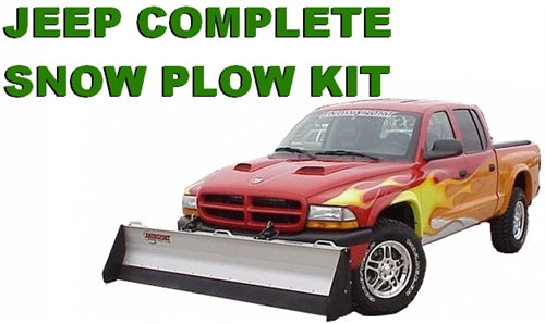 Jeep Complete Snow Plow Kit